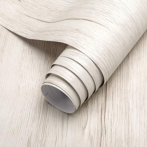 KINLO Papel Adhesivo para Muebles Vinilos Madera Decorativo Autoadhesivo Papel Pintado 61cm x 5m PVC Impermeable Pegatina para Muebles Cocina Oficina