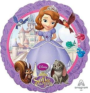 Disney Junior 2752901 Amscan Standard Size Foil Sofia Party Accessory, Multi, large