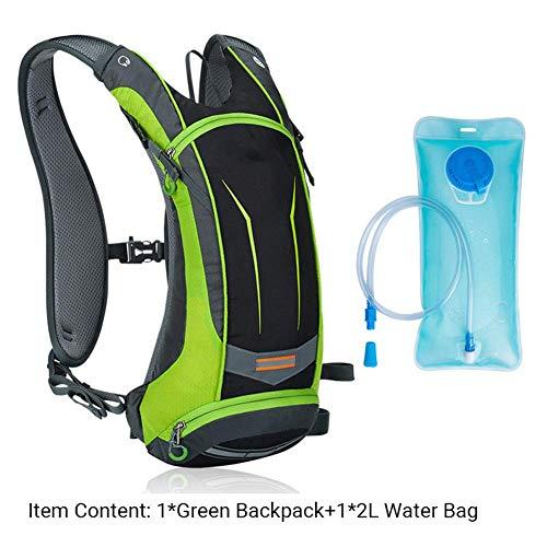 Gymqian Waterproof Backpack for Outdoor Hiking Camping Travel 8L Mountain Bike Bicycle Riding Bag/Green B