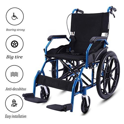 Cajolg Pxxxa Rollstuhl Faltbar,Rahmen aus hochbelastbarer Aluminiumlegierung hohe tragfähigkeit Erwachsene Rollstühle,Rollator Faltbar Leichtgewicht