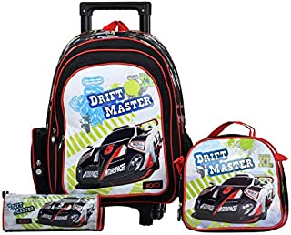 "ROCO Bag KNAPSACK TROLLEY 15""  3-IN-1,with pencil case & Lunch Bag"