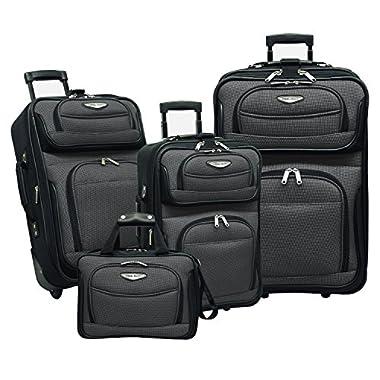 Traveler's Choice Amsterdam 4-Piece Luggage Set, Gray