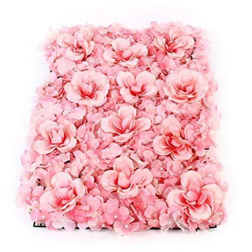 12 piezas de decoración de fondo de flores artificiales, panel de decoración para bodas, fondo de foto, DIY, flores artificiales