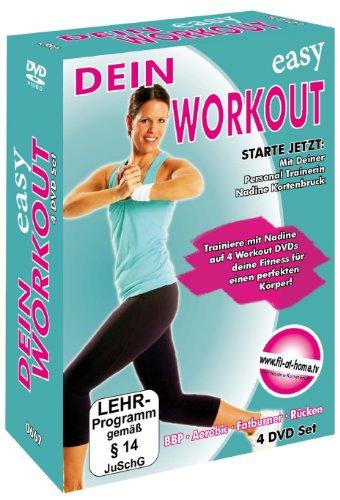 Dein Easy Workout : Rücken - Aerobic - Fatburner - Bauch, Beine, Po - 4 DVD Box