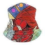 XCVD Bandanas Half Face Santa Claus con bolsa de regalos Calentador de cuello de microfibra trepadora para actividades al aire libre, deportes