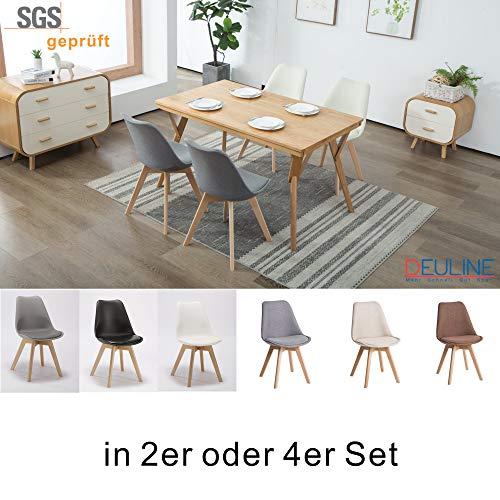 Deuline 4 x Esszimmerstühle Esszimmerstuhl SGS geprüft und Zertifiziert Polsterst Stuhl Stühle...