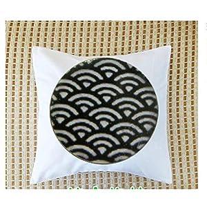 Patrón de Japón - joyería japonesa - niños - niña - colgante blanco y negro - joyería para niños - pendientes de Japón - Fundas para almohada de boda
