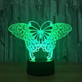 Butterfly 3D Visual Illusion Lamp Transparent  Night Light LED Lamp Color Changing Touch Table Bulbing Lamp 3D Deco Light