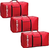 """Samsonite 32.5"""" Tote-A-Ton 3 Piece Duffel Set (One Size, Red)"""