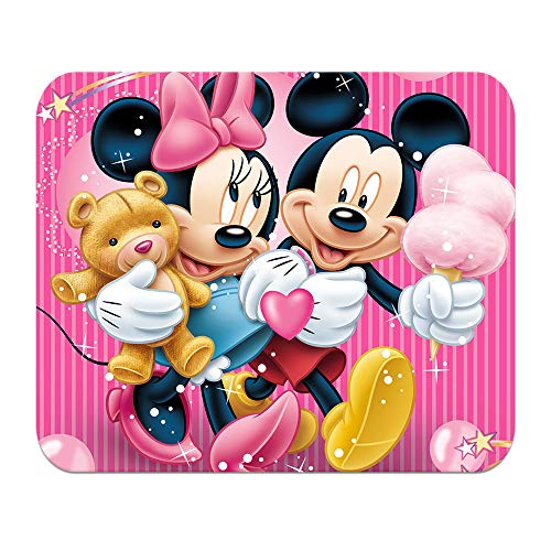 LJX Mickey Mouse Minnie Mouse Pad Personalized Non-Slip Rubber Mousepad Cartoon Pattern Gaming Mouse Mat (9.5inchx7.9inch)#E