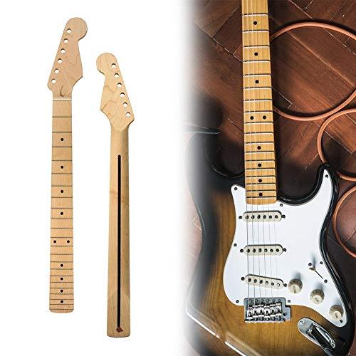 wisedwell Gitarrenhals e-Gitarre 22 Bünde Gitarren Griffbrett Gitarrenhals Neck Ersatz Ahorn Hals für Ahorn Strat ST Gitarren reparaturteile