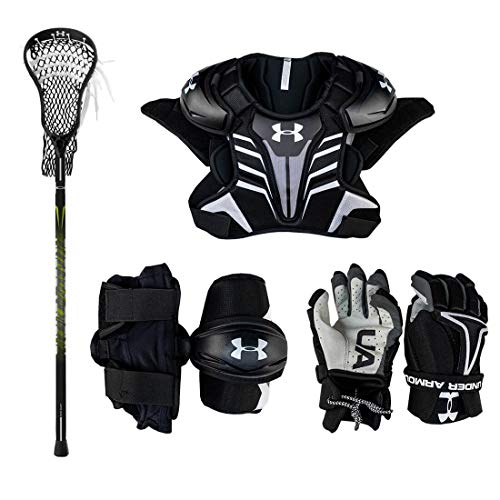 Under Armour Strategy Youth Lacrosse Starter Set (W/Complete Stick)-Adult-Medium