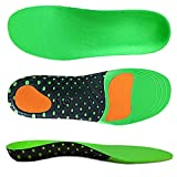 VoMii for Arch Support Insoles, Flat Feet, Plantar Fasciitis Orthotic Inserts with EVA Sports Comfort Best Shock Absorption Breathable Insole for Men and Women, M(Men's 8-10.5/Women 9-11.5)