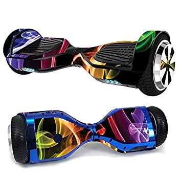 MightySkins Skin Compatible with Hover-1 H1 Hoverboard Scooter - Bright Smoke | Protective Durable and Unique Vinyl Decal wrap Cover | Easy to Apply Remove and Change Styles | Made in The USA