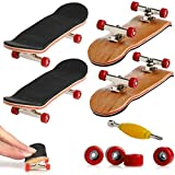 Mini Diapasón, 2 Pack Profesional Dedo Monopatín Maple Wood DIY Asamblea Skateboarding Juguete Juegos Deportivos Regalo de los Niños (Rojo)