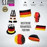 Meisterhome Fanartiker Set (7tg) Deutschland WM Fußball Party Demo DFB Nationalmannschaft
