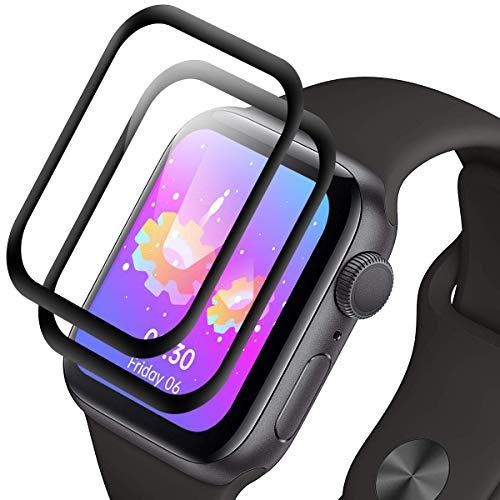RIIMUHIR [2 unidades] Protector de pantalla de cristal templado para Apple Watch Series 1/2/3 38 mm, dureza 9H, antihuellas, HD transparente