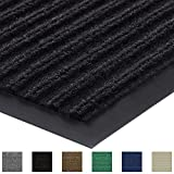 Gorilla Grip Original Low Profile Rubber Door Mat, 35x23, Heavy Duty, Durable Doormat for Indoor and Outdoor, Waterproof, Easy Clean, Home Rug Mats for Entry, Patio, High Traffic, Blue
