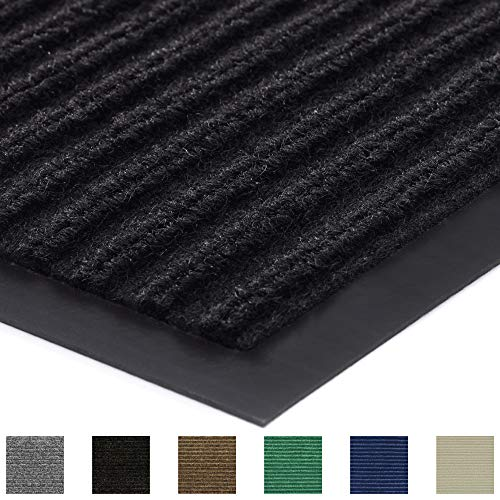 Gorilla Grip Original Low Profile Rubber Door Mat, 72x24, Heavy Duty, Durable Runner Doormat for Indoor and Outdoor, Waterproof, Easy Clean, Home Rug Mats for Entry, Patio, High Traffic, Black