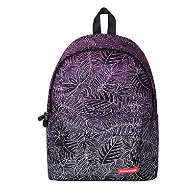 YiMiky Printing Zipper Backpacks Backpack for Women and Men Rucksack Fashion Canvas Bags Retro Casual School Bags Travel Bags