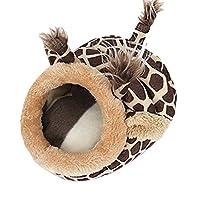 ACAMPTAR ペット暖かいベッド チンチラハリネズミモルモットベッド アクセサリー ケージおもちゃ 小動物ハウスハムスター用品 ハビタットフェレットラットネスト