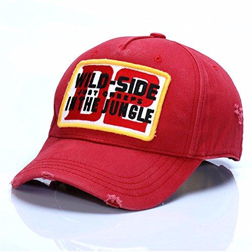 HYP@Baseball Cap/Baseballkappe/Trucker Cap/Trucker Hat/Golf Sport Outdoor Kappe Mütze CapPräsident Alpha, Rot, alle Codes