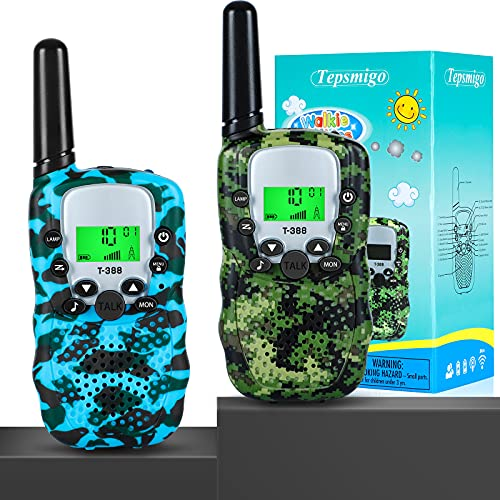 Walkie Talkies for Kids, Multifunction Kids Walkie Talkie - Up to 3KM Range Connection, 22+99 Channels, Easy Push-to-talk System, Protect Privacy, Built-in Flashlight - Perfect Toy Gift for Boys Girls