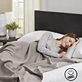 Madison Park Liquid Cotton Luxury Blanket Premium Soft Cozy 100% Ring Spun Cotton For Bed , Couch or Sofa, King, Gray