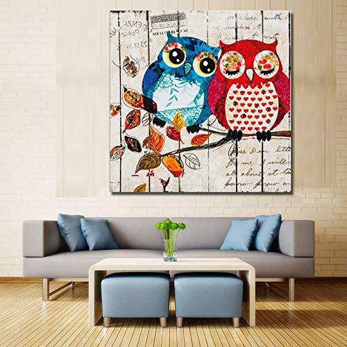 WSNDGWS Auriculares Pintados con animalitos Pintados con Pintura al óleo Decorativa Dibujada a Mano C3 40x40cm