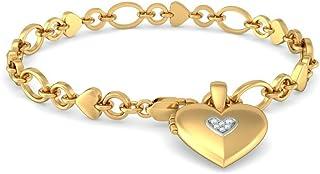 18K Yellow Gold 0.21 cttw Round-Cut-Diamond IJ| SI identification-bracelets Size 9.5 inches