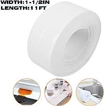 TYLife CaulkStrip,Self Adhesive Sealing BathtubCaulking Tape for Kitchen Countertop Bathroom Shower Toilet Sink Gas Stove Wall Corner 1-1/2
