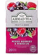 Ahmad Tea Mixed Berries 20 Bolsitas Té de Frutas, Mezcla de Frutas, 40 Gramos