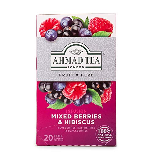 Ahmad Tea Mixed Berries & Hibiscus Fruit & Herbal Infusion - 20 Teabags