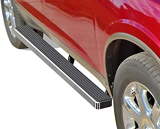 APS iBoard (Silver 4 inches) Running Boards Nerf Bars Side Steps Step Rails Compatible with 2007-2017 Chevy Traverse & 2007-2009 Buick Enclave (Exclude Denali)
