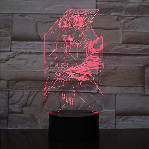 My Hero Academia Todoroki Shoto Figura USB 3D LED Luz de noche Niños Niño Niños Bebé Regalos Anime japonés Lámpara de mesa Mesita de noche FFFCJYQ