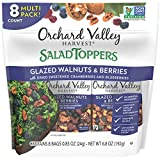 ORCHARD VALLEY HARVEST Salad Toppers, Glazed Walnuts & Berries, 0.85 oz (Pack of 8), Non-G...