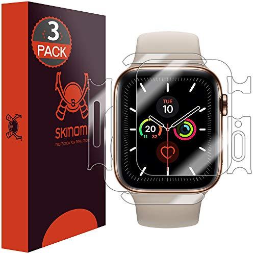 Skinomi TechSkin - Schutzfolie kompatibel mit Apple Watch Series 5 40mm, Vorderseite, Rückseite und Rahmen, 3er Pack