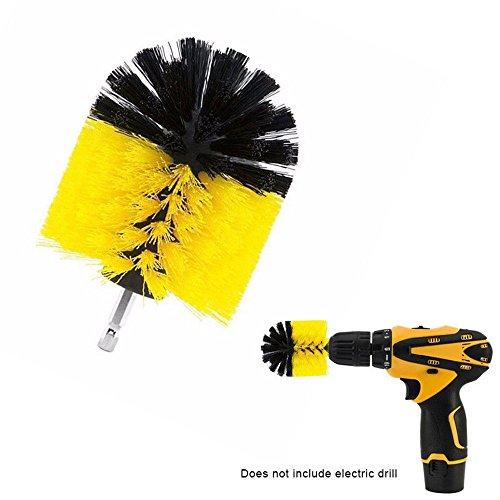 Yefun - Cepillo de taladro eléctrico de 3,5 pulgadas con forma de bola de plástico para limpiar neumáticos de coche, cocina, baño, asientos/alfombrilla