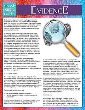 Paperback Evidence (Speedy Study Guides) Book