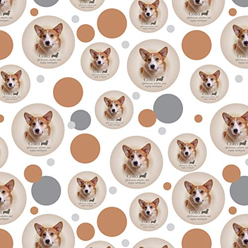 GRAPHICS & MORE Corgi Dog Breed Premium Gift Wrap Wrapping Paper Roll