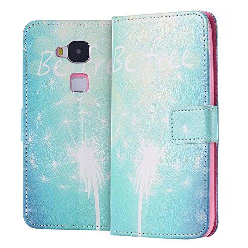 ECENCE Handyhülle Schutzhülle Case Cover kompatibel für Huawei Ascend G8 Handytasche Pusteblume 42040203