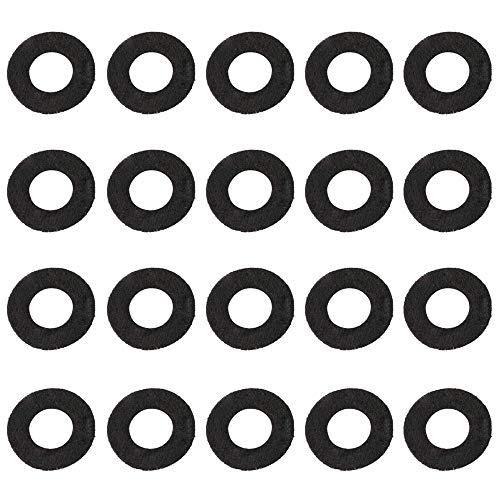 Jiayouy 18mm Trumpet Valve Felt Pads Trumpet Valve Top Cap Ring Washer Set of 20