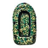 Kayak Inflable Kayak Deportivo Bote Al Aire Libre Cómodo Kayak Ocio Barco Plegable 1-3 Personas Barco Inflable Marina Deportes Pesca Aventura Grueso Plástico PVC 230 * 125 Cm Verde Camuflaje