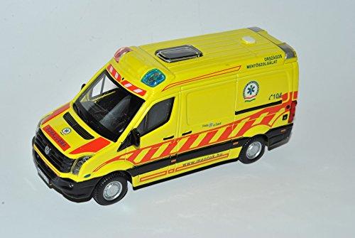 Bburago Volkwagen Crafter Ambulance Mentok Notarzt gelb 1/50 Modell Auto