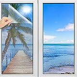 TOOELMON Spiegelfolie selbstklebend, Spiegelfolie Fenster Sichtschutz UV-Schutz Infrarot Wärmeschutzfolie Dachfenster Sonnenschutz Tönungsfolie [60x200 cm]
