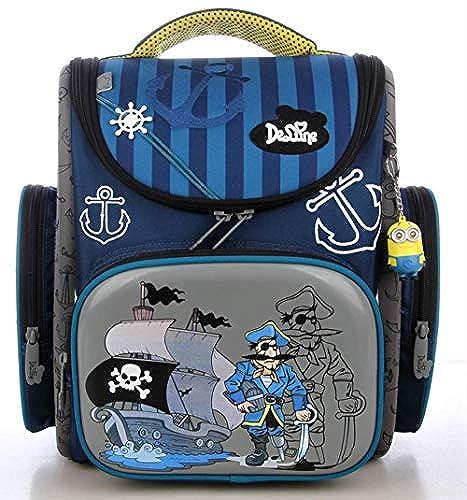 KHDJH Kinderrucksack Prim  Größe 3D Cartoon Schule Taschen Kinder Orthop sche Ergonomisches Design Schule Rucksack Jungen Schule Taschen J J