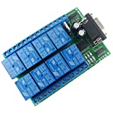Eletechsup DC 12V 8 Channel RS232 Relay Board PC USB UART DB9 Remote Control Switch for PL...