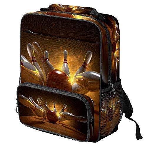 TIZORAX - Borsa per la scuola per ragazze ragazzi studenti, borsa da bowling palle da viaggio, zaino casual da viaggio, escursionismo, campeggio