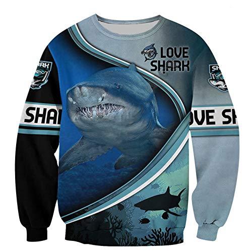 Beautiful Love Shark 3D Printed Unisex Hoodie Hombres Sudadera Zip Pullover Chaqueta Casual Chándal Sweatshirt XXXL