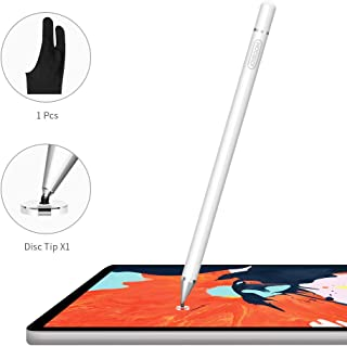 JOYROOM Capacitive Stylus Pen, Disc Fine Tip, High Sensitivity and Precision, with Replacement Tips, for Touch Screen Devices Tablet, Smartphone, Apple Pen, iPad Pen (White)